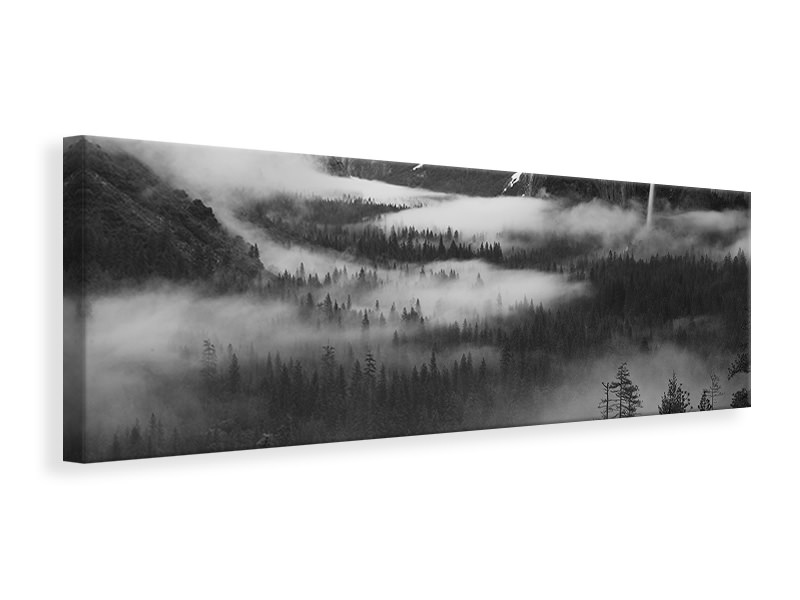 Panoramic Canvas Print Fog Floating In Yosemite Valley