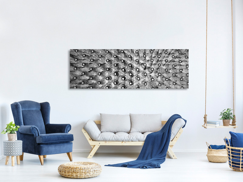 Panoramic Canvas Print Crowded