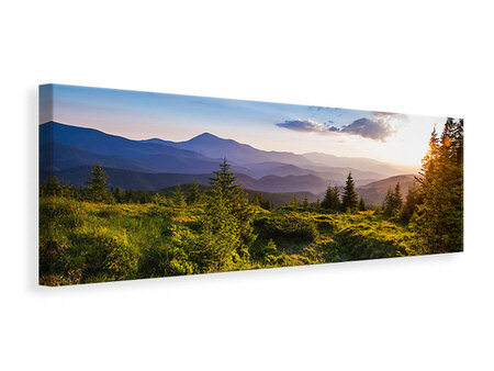 Panoramic Canvas Print Peaceful Landscape