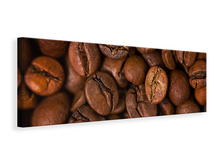 Panoramic Canvas Print Close Up Coffee Beans