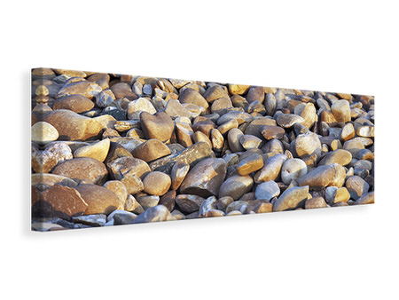 Panoramic Canvas Print Beach Stones