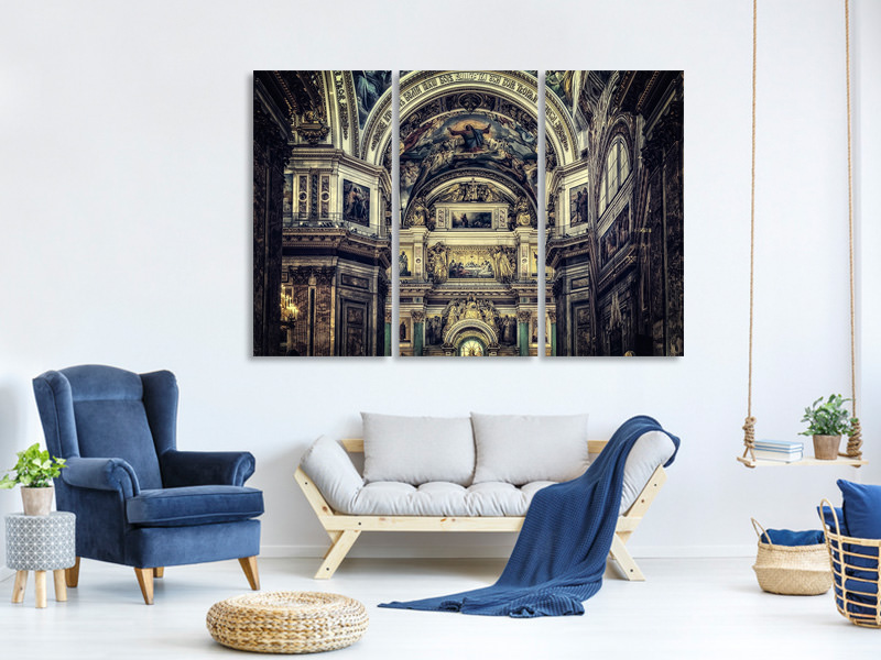 3 Piece Canvas Print Glorious church