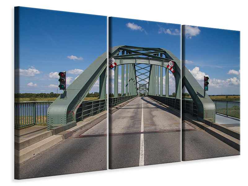 3 Piece Canvas Print The bascule bridge