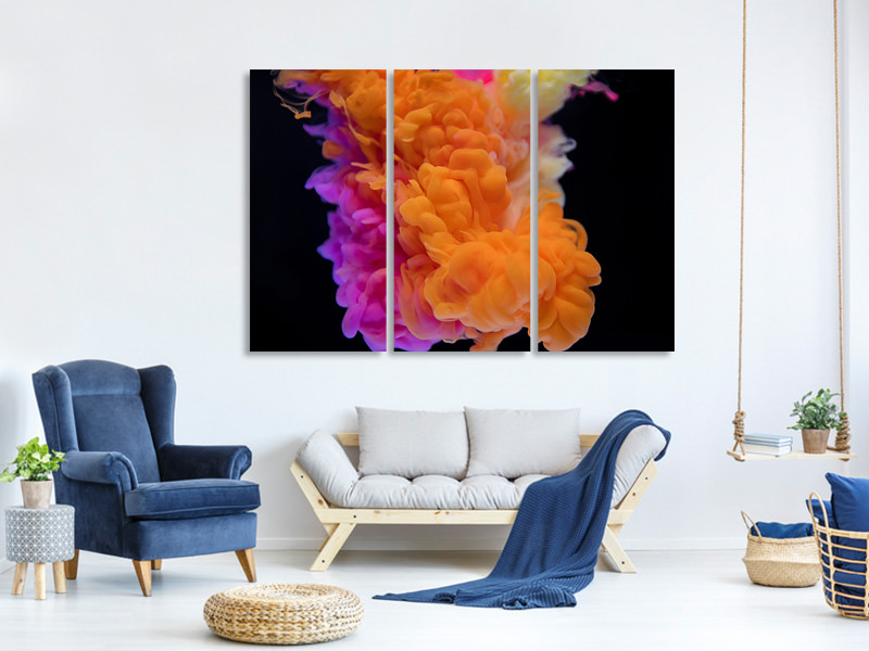 3 Piece Canvas Print Floating Art 1