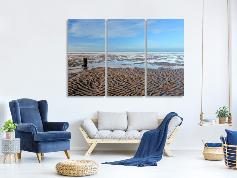 3 Piece Canvas Print The North Sea