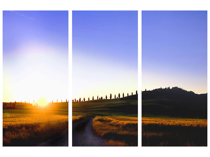3 Piece Canvas Print The dawn