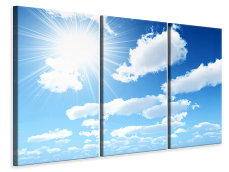 3 Piece Canvas Print In The Sky