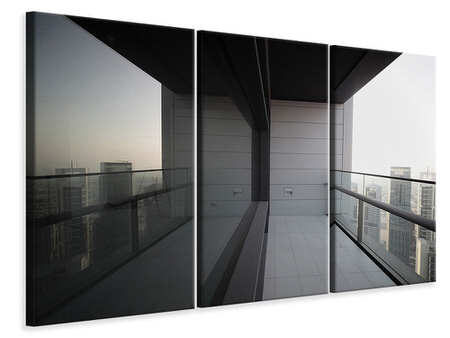 3 Piece Canvas Print Balcony In Dubai