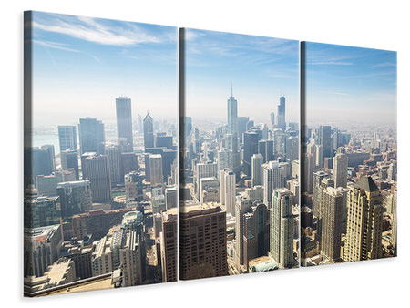 3 Piece Canvas Print Skyscraper Chicago