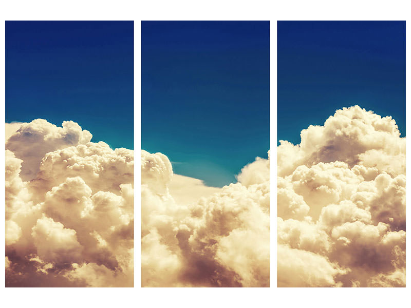 3 Piece Canvas Print Sky Clouds