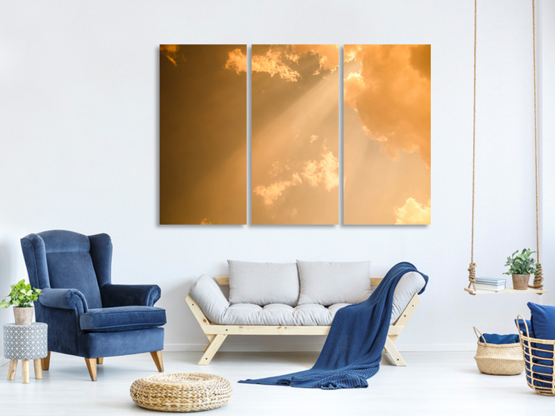 3 Piece Canvas Print Evening Sky