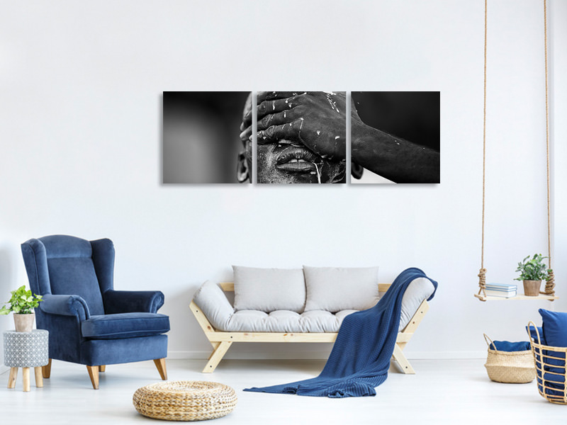 Panoramic 3 Piece Canvas Print Ritual