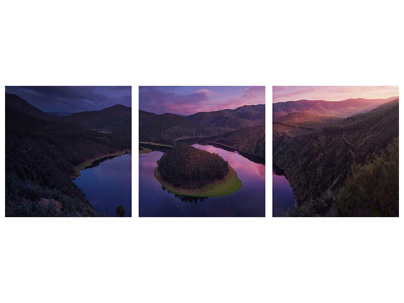 Panoramic 3 Piece Canvas Print U
