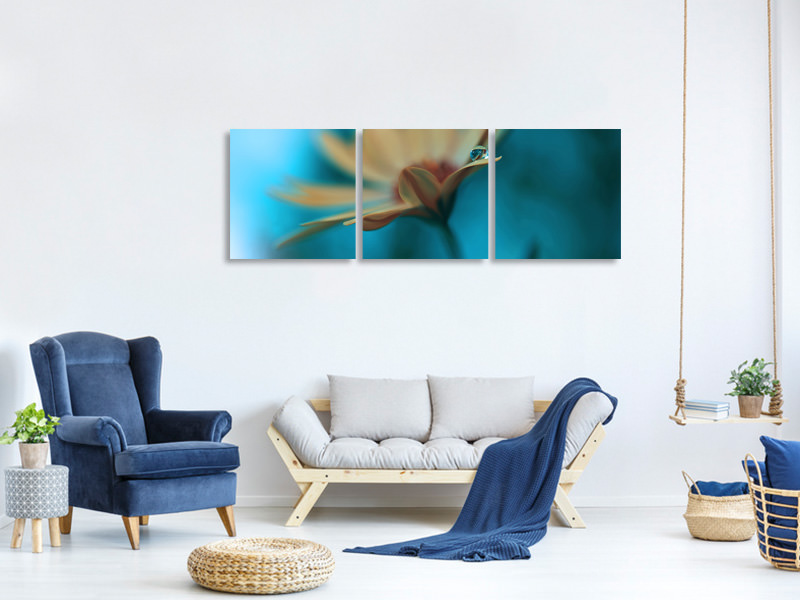 Tableau sur toile en 3 parties panoramique Memories Of Sea