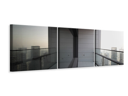 Panoramic 3 Piece Canvas Print Balcony In Dubai