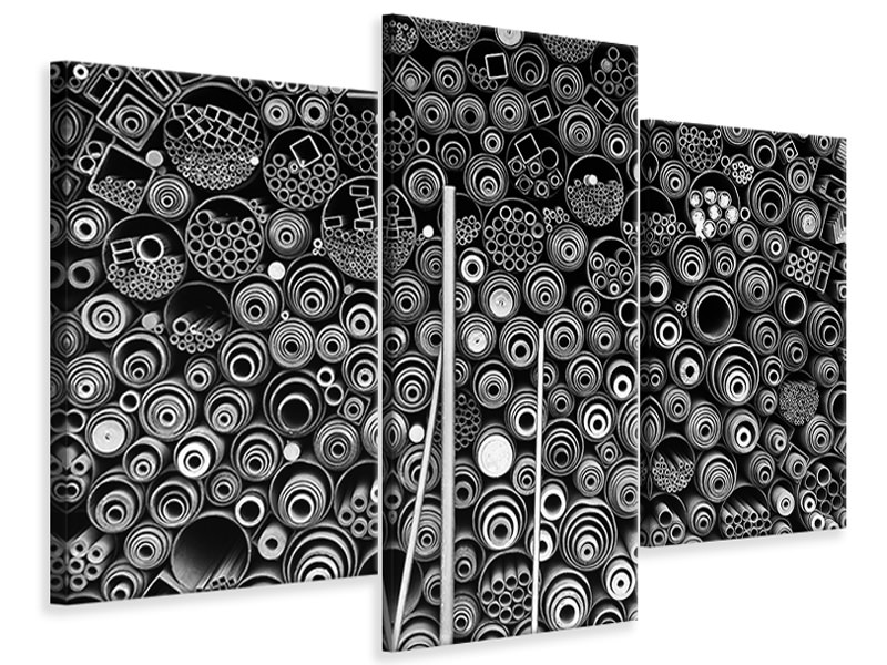 Modern 3 Piece Canvas Print 3 More Pipes