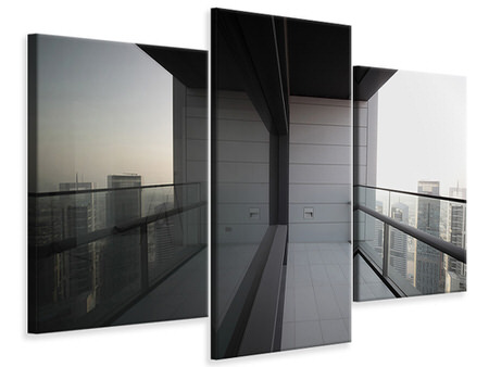 Modern 3 Piece Canvas Print Balcony In Dubai