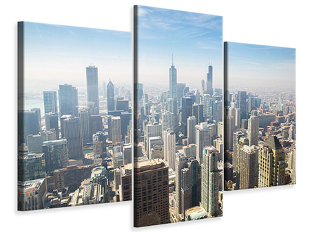 Modern 3 Piece Canvas Print Skyscraper Chicago