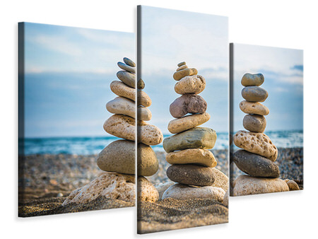 Modern 3 Piece Canvas Print Three Stone Stacks