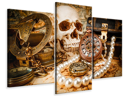 Modern 3 Piece Canvas Print Treasure Hunt