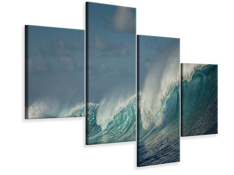 Modern 4 Piece Canvas Print Salt Water Machine