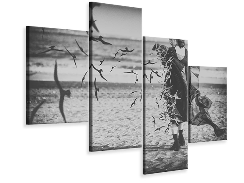 Modern 4 Piece Canvas Print Ominous Call Death