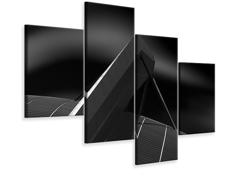 Modern 4 Piece Canvas Print Big Hold