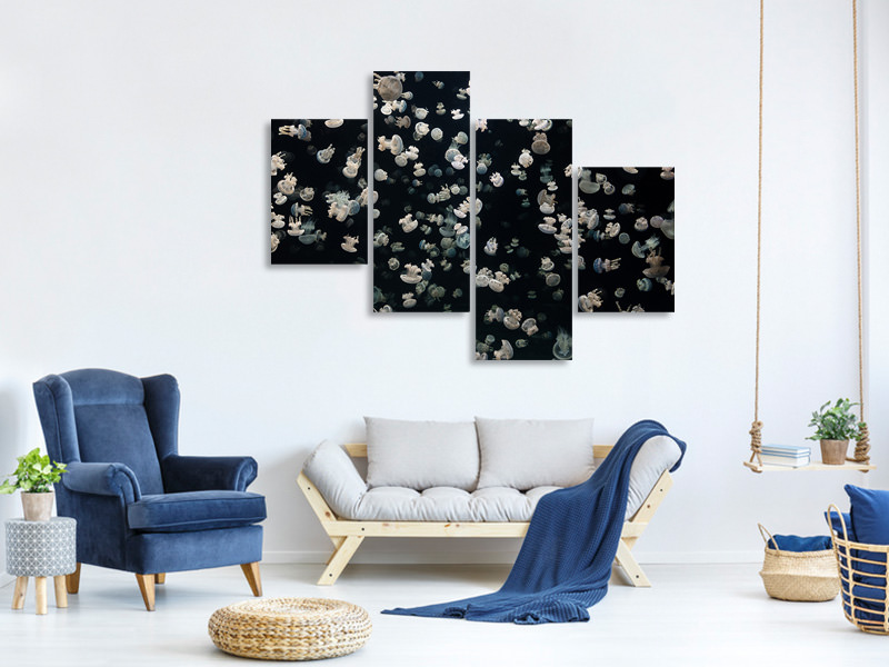 Modern 4 Piece Canvas Print Just Some Jellies
