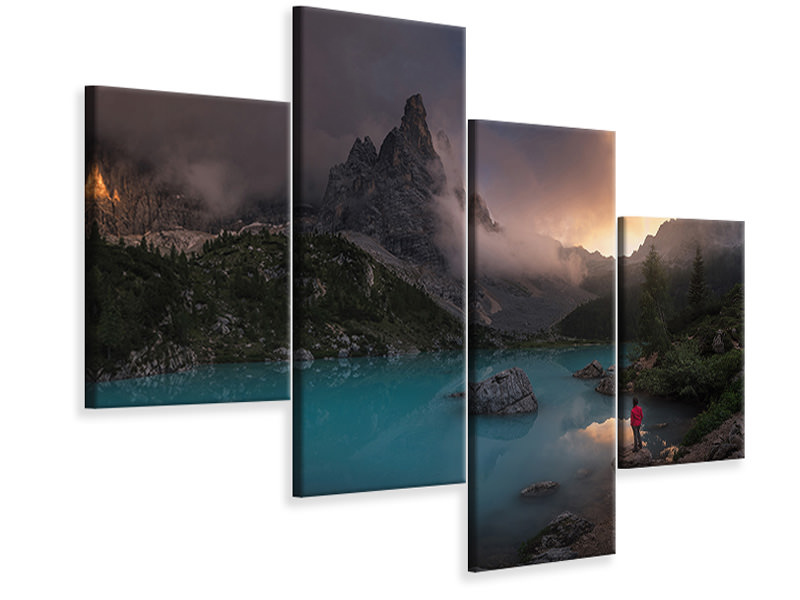 Modern 4 Piece Canvas Print Sorapiss