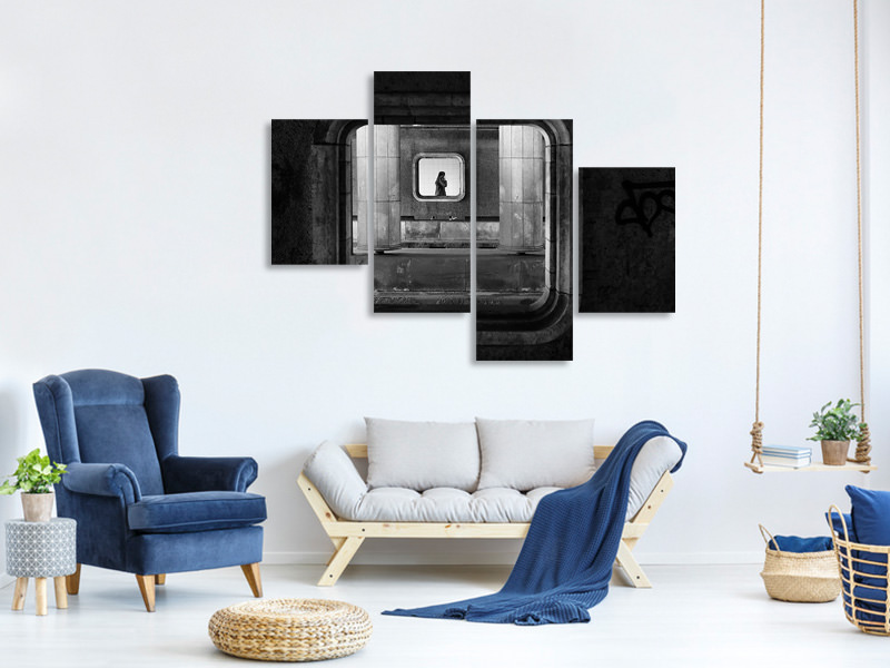 Modern 4 Piece Canvas Print Accessible Everywhere