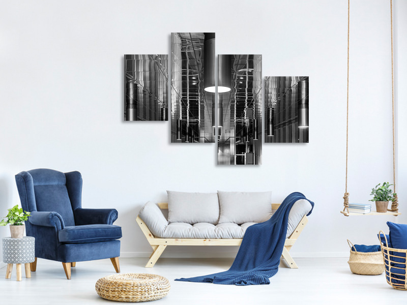 Tableau sur Toile en 4 parties moderne Lighted Ceiling