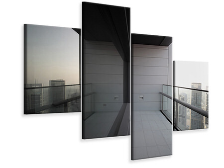 Modern 4 Piece Canvas Print Balcony In Dubai