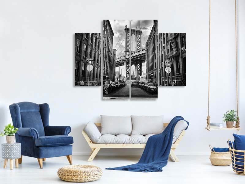 4 Piece Canvas Print In America