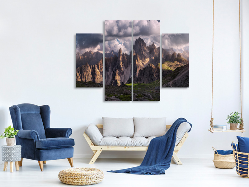 4 Piece Canvas Print Lost