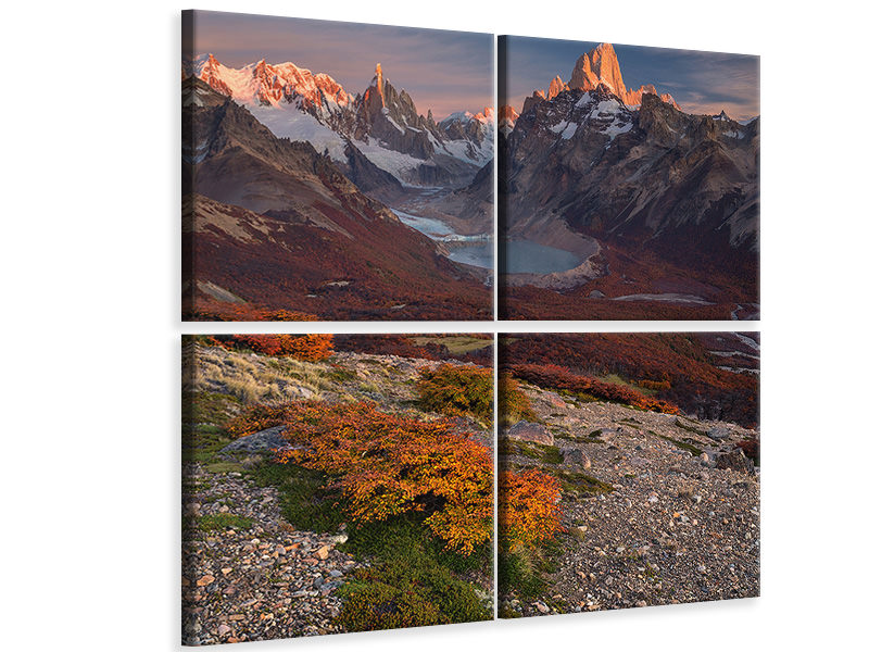 4 Piece Canvas Print Patagonia Is My Love