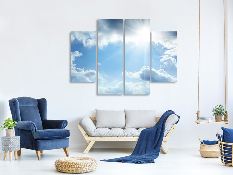 4 Piece Canvas Print Sky Hope