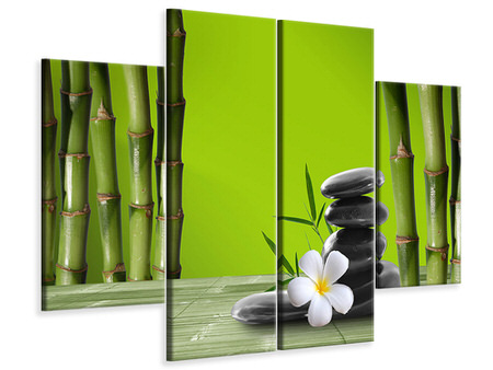4 Piece Canvas Print Bamboo