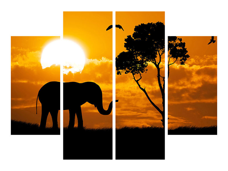 4 Piece Canvas Print Dreamy Africa