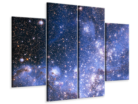4 Piece Canvas Print Starry Sky