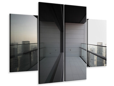 4 Piece Canvas Print Balcony In Dubai