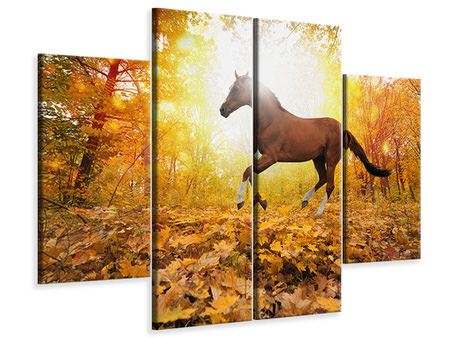 4 Piece Canvas Print Whole Blood In Autumn Forest