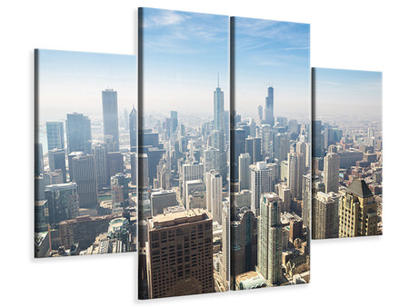 4 Piece Canvas Print Skyscraper Chicago