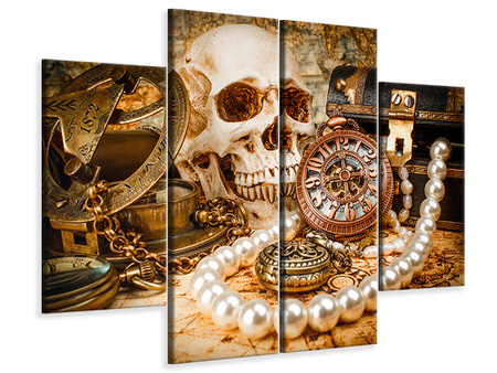 4 Piece Canvas Print Treasure Hunt