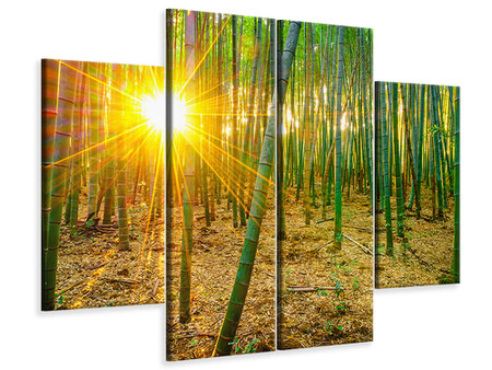 4 Piece Canvas Print Bamboos