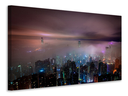 Canvas print Smog in Hong Kong