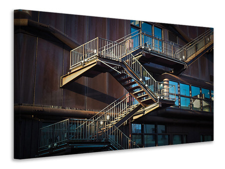 Canvas print Outside stairs