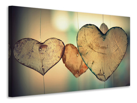 Canvas print Beautiful hearts