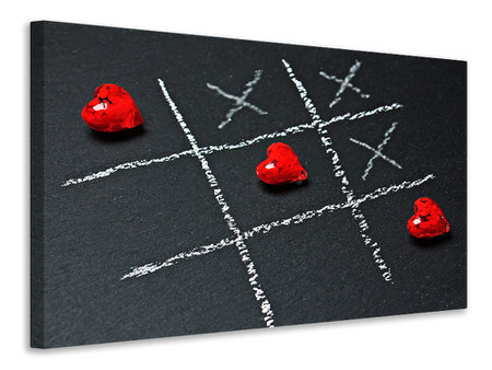 Canvas print Tic tac toe love