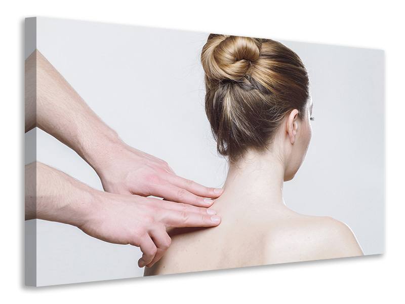 Canvas print Neck massage