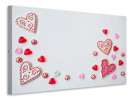 Canvas print Sweets from the heart